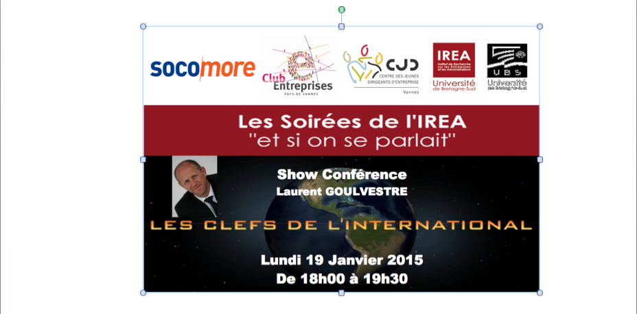 « Les clefs de l'international » avec SOCOMORE, MEDEF, CJD, IREA